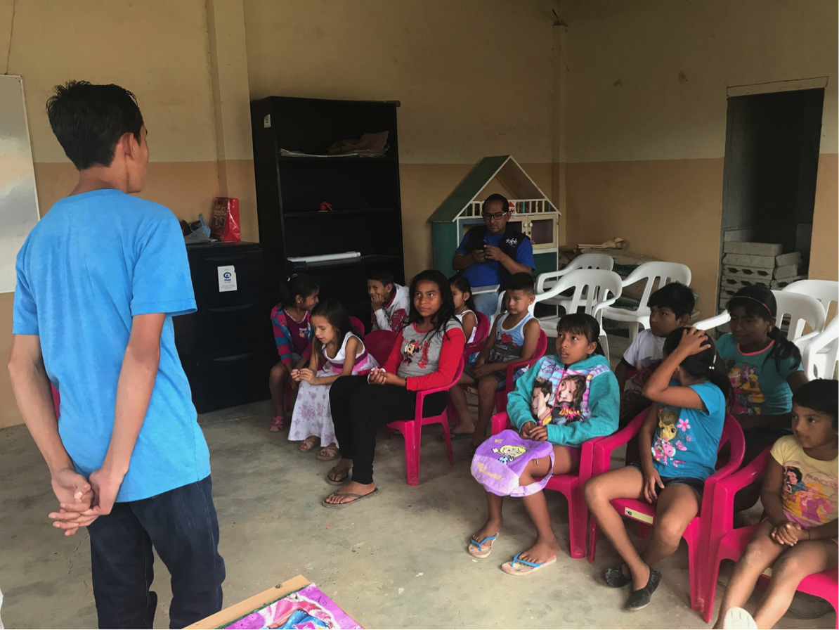 "Last month our young local volunteer, Ariel, planned and implemented a ""Chicas Maravillas and Chicos Superman"" club in his own neighborhood. He worked with 27 children in his neighborhood on a shortened version of our youth club, doing activities on hygiene, nutrition, prevention of drug and alcohol use, and goal setting."