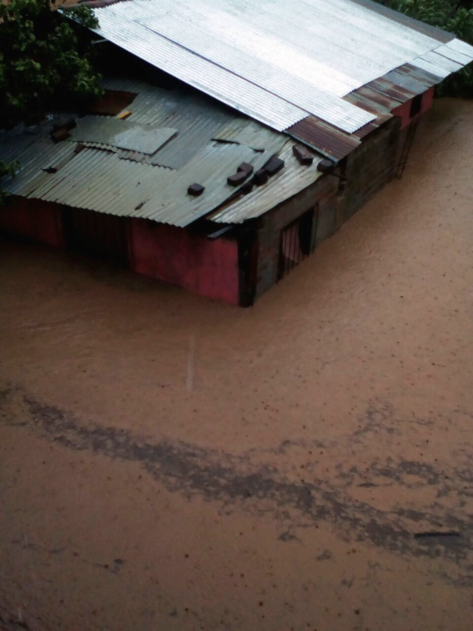 This photo was taken by Field Operations Manager Jessica Southern, looking down from her second story home. Her neighbors, friends of many years, encountered flood levels far above waistline.