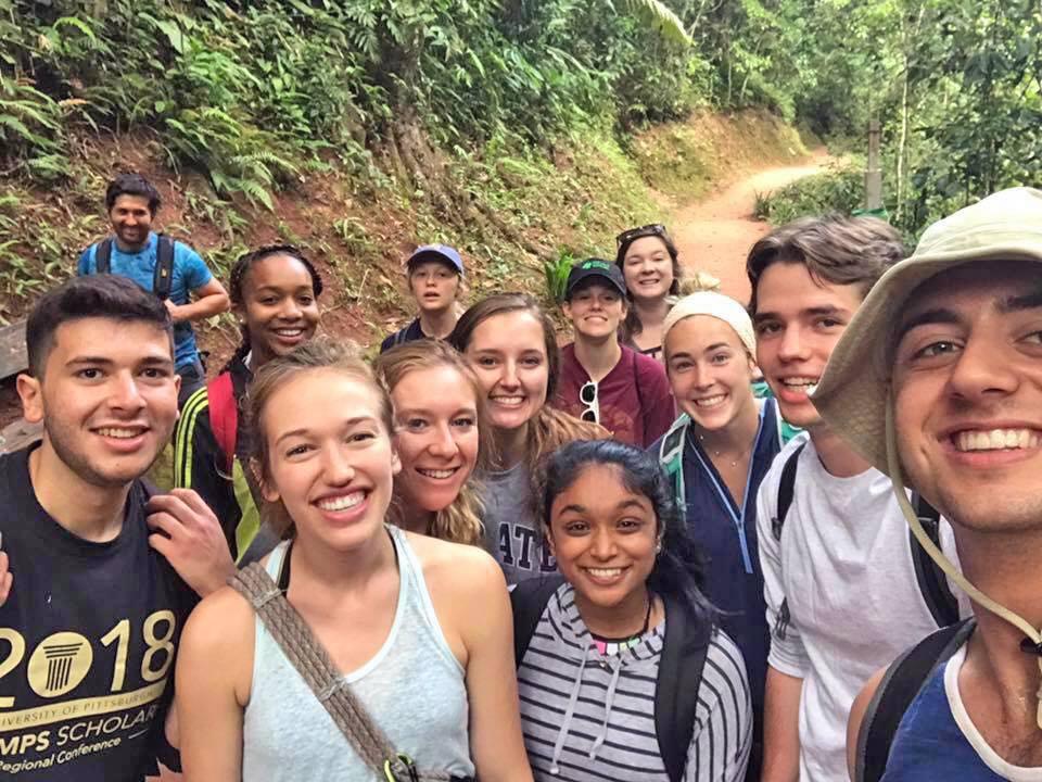 Fellows spending quality time walking through La Merced, Peru