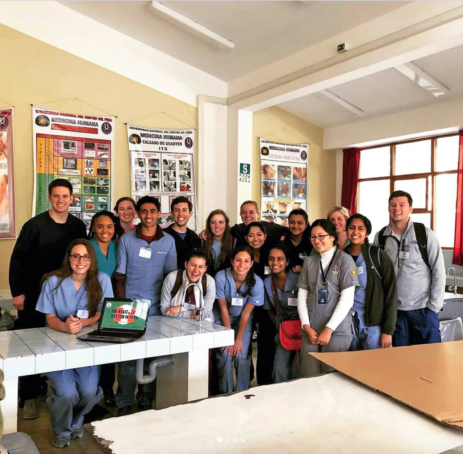 Home visits and clinical rounds with local health posts and hospitals in Huancayo, Peru.