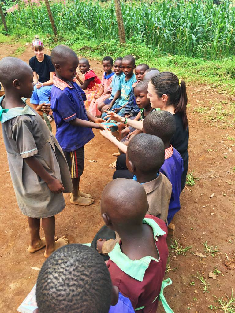 Outreach activities at school for orphans, Project Bududa, Uganda