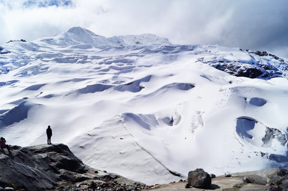 Glacier view during hike near Huancayo, Peru
