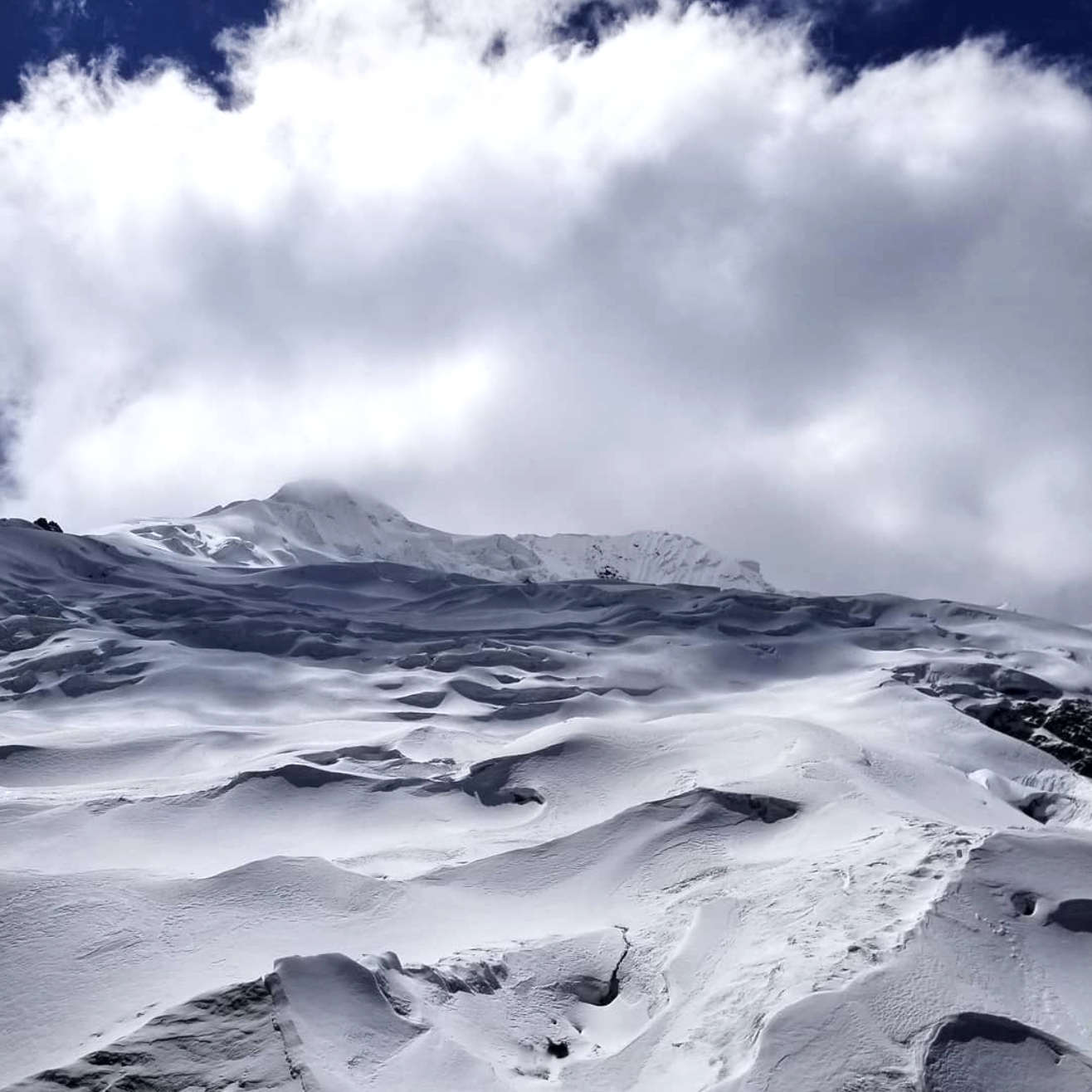 Glacier views near Project Huancayo, Peru.