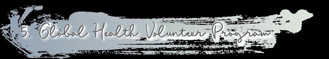 5. Global Health Volunteer Program