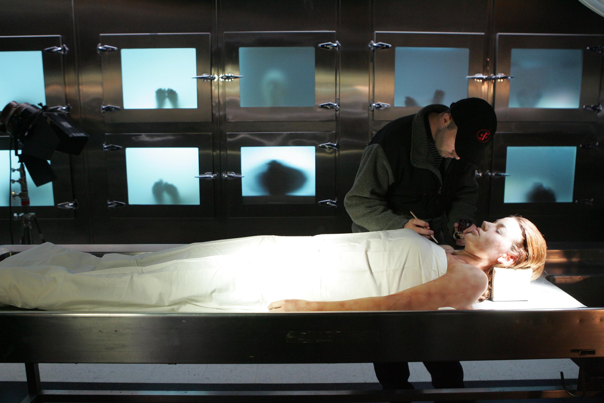 Clinton on the set of CSI. Photo courtesy of Bill Inoshi  ta.