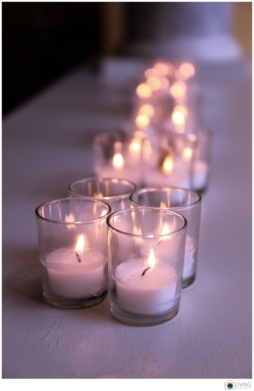 There were candles everywhere... I think there may have been more at this wedding than my own.