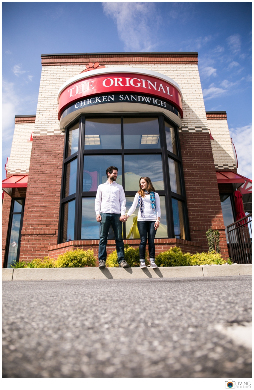 Matt and Christina have been to over 100 chickfila openings... they actually met at one of them So we thought this was fitting... :)
