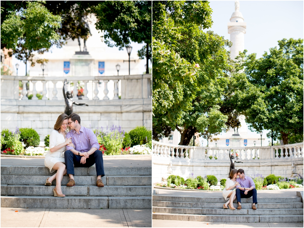Mt. Vernon Baltimore Engagement Session | Living Radiant Photography | Best Baltimore Wedding Photographer