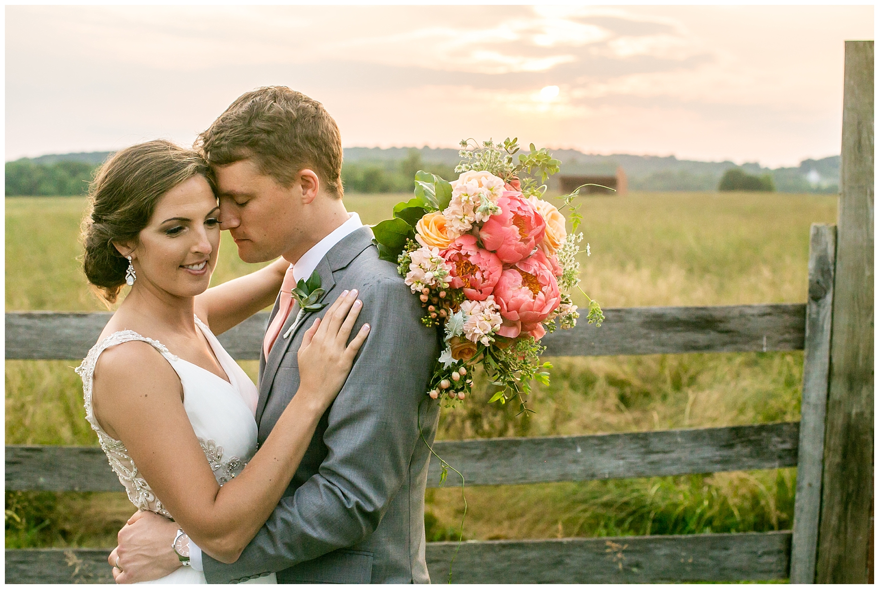 Bohemia River Overlook Wedding | Baltimore Best Wedding Photographers | Baltimore Weddings | Pink Bridesmaids Dresses | Peony Bouquet | Living Radiant Photography