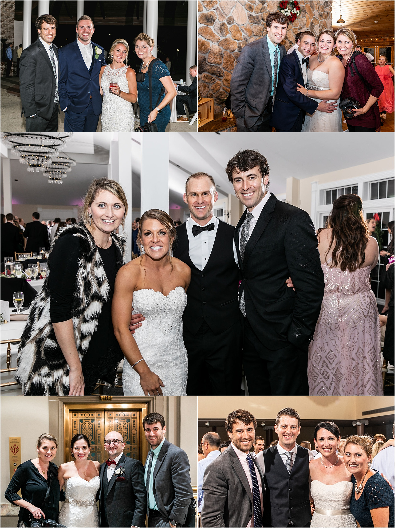 Our goal at the end of every wedding is to take a photo with our couple. How gorgeous are our people? These are just some of them!
