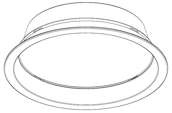 Indbygningsarmatur, med roterbar og udskiftelig optik