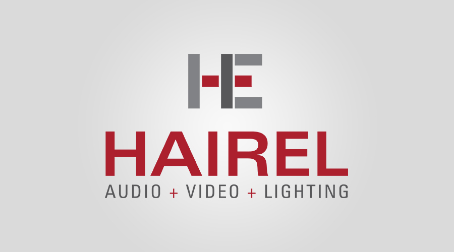 """Hairel Enterprises   provides integrated systems that include sound reinforcement, architectural and theatrical lighting, video and broadcast solutions. Looking to update their branding, HE was in need of something modern and fresh that speaks to who they are as a company.The icon shows off their initials while also depicting building blocks and a """"cross"""" symbol in the middle."""