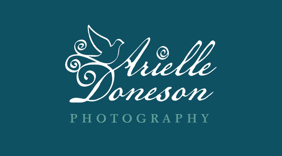 """Arielle, ofArielle Doneson Photography, came to me after a few DIY logo disasters. She wanted something beautiful, while capturing her true personality and flare. She gave me thoughts like """"my nickname was Sparrow... I love birds, lace, vintage fonts, Jane Austen novels, Anthropologie... my client is well educated, artsy, loves the vintage look, interested in fashion, and loves nature."""" After a few rounds of ideas, we came up with this new, lovely brand that speaks to Arielle and her business."""