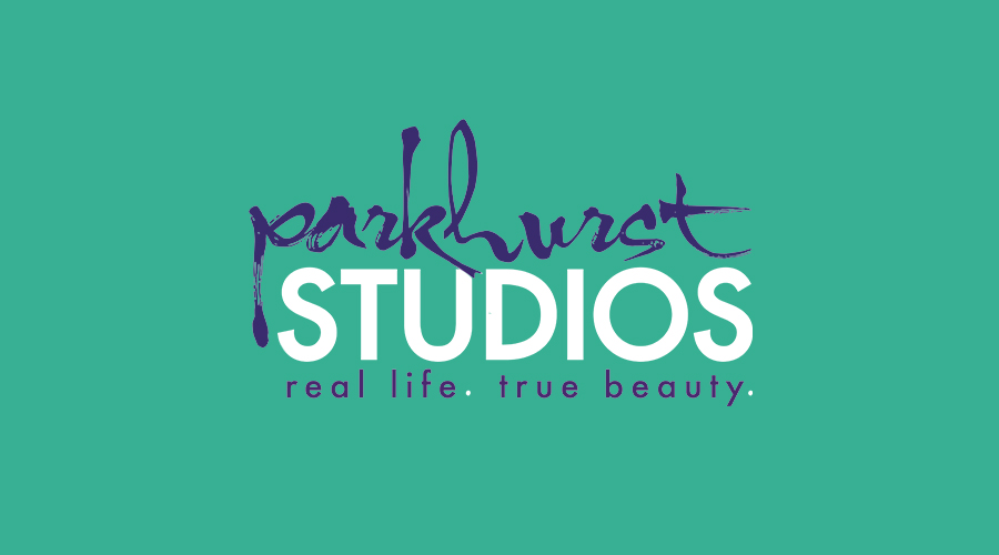 """Rachel Parkhurst, of Parkhurst Studios , was in need of a logo that professionally branded her company and encompassed her style of photography. Combining a fun, handwritten font with a modern, clean font and a punch of color says, """"I'm ready to take some awesome photos! But I'm even more ready to get to know you!"""""""