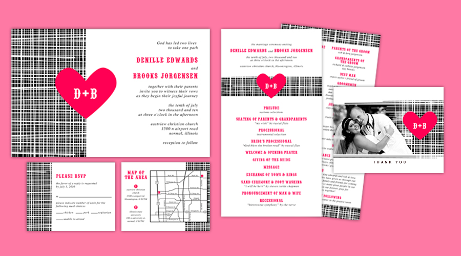 LOVE ALL OVER  :: Invitations + Programs + Thank You Notes