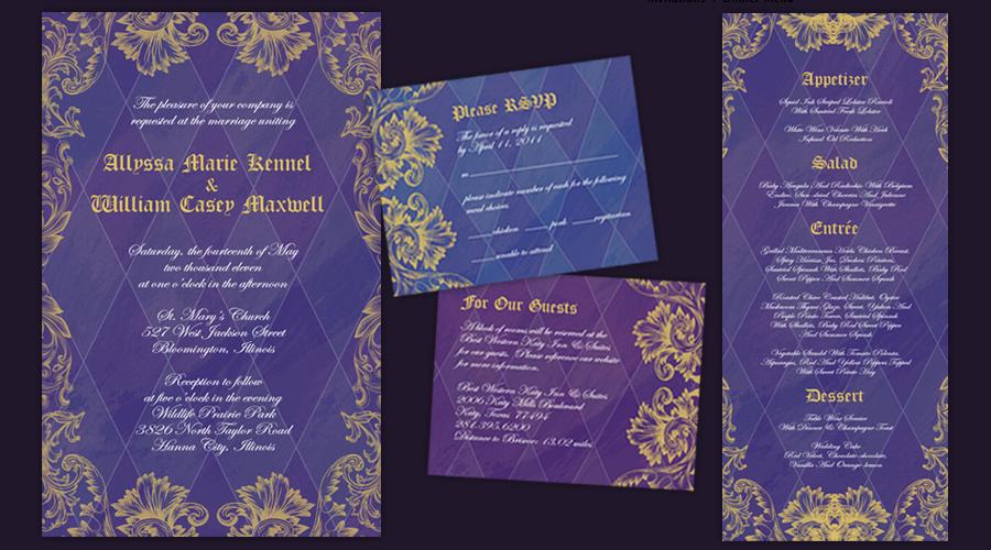 ALICE IN WONDERLAND  :: Invitations + Reception Menus