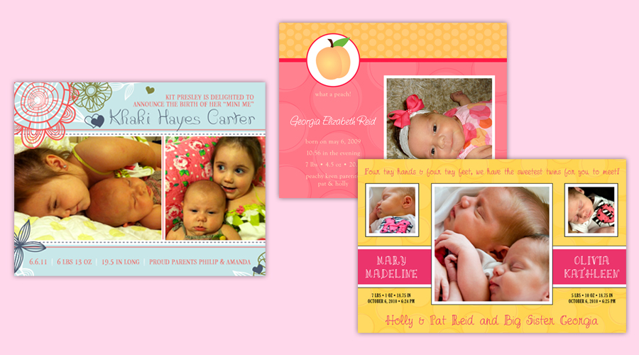 TICKLE ME PINK GIRLS  :: Baby Announcements