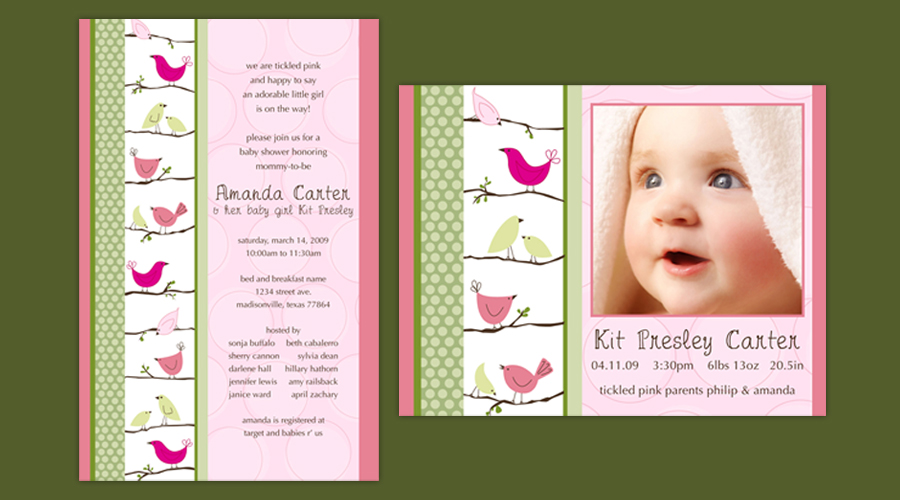 BIRDIES  :: Invitations + Announcements