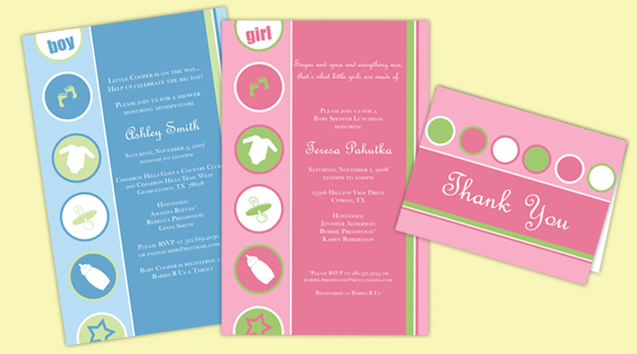 BOY OR GIRL?  :: Invitations + Thank You Notes