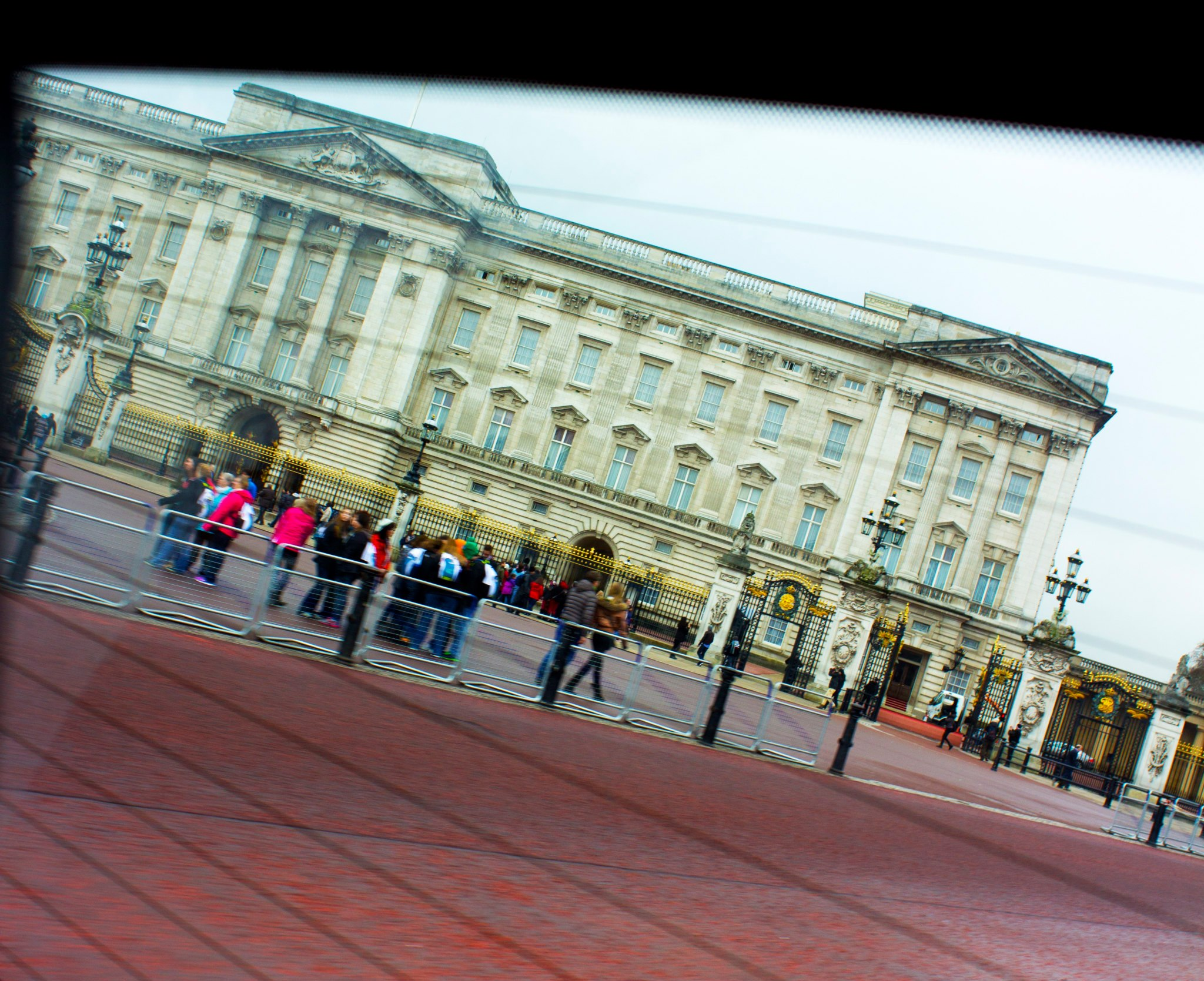 Buckingham Palace from the taxi window!