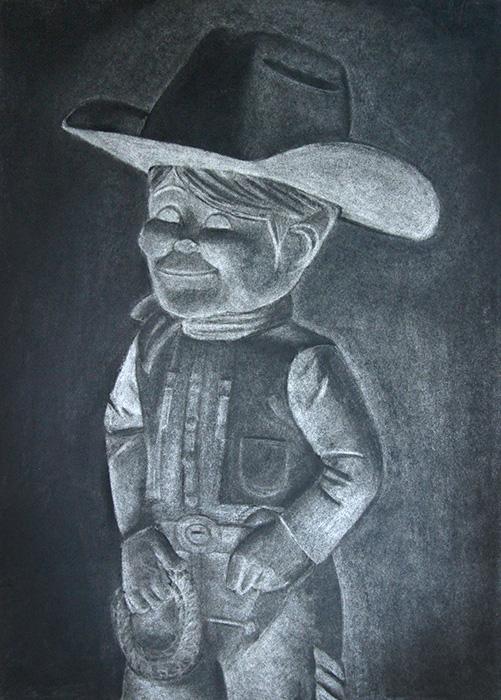 Charcoal Drawing  ::  Dude Cowboy