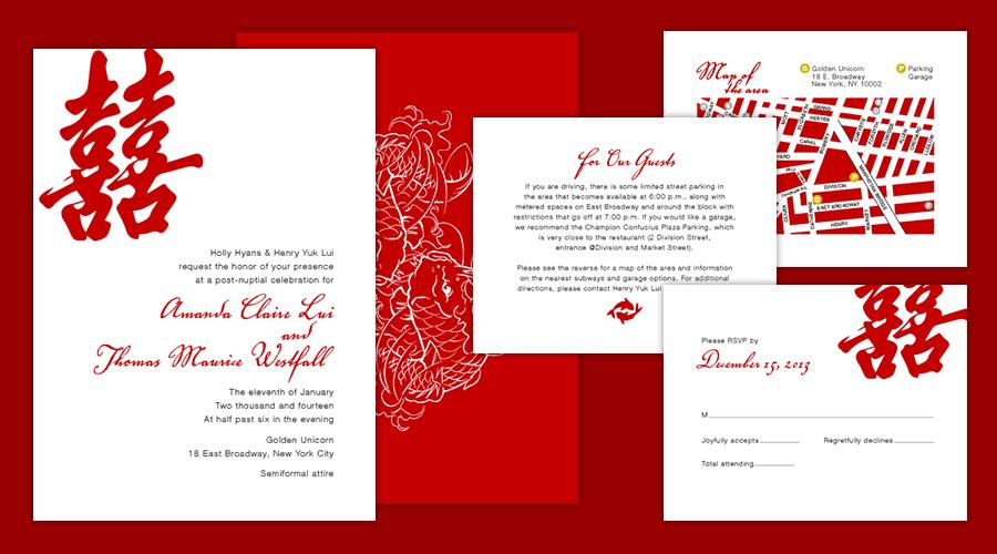 CHINATOWN  :: Invitation Set