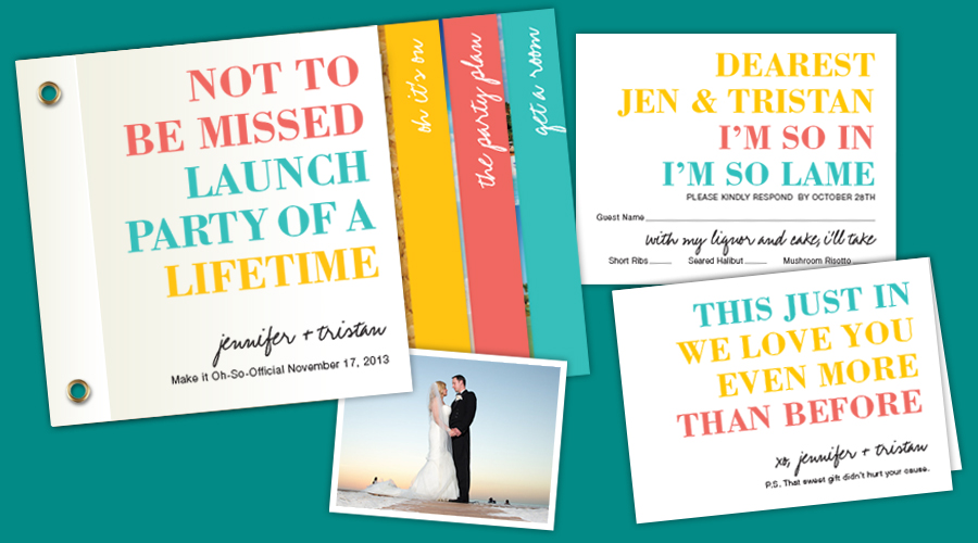 BEACH PARTY  :: Invitation Booklet Set + Thank You Notes