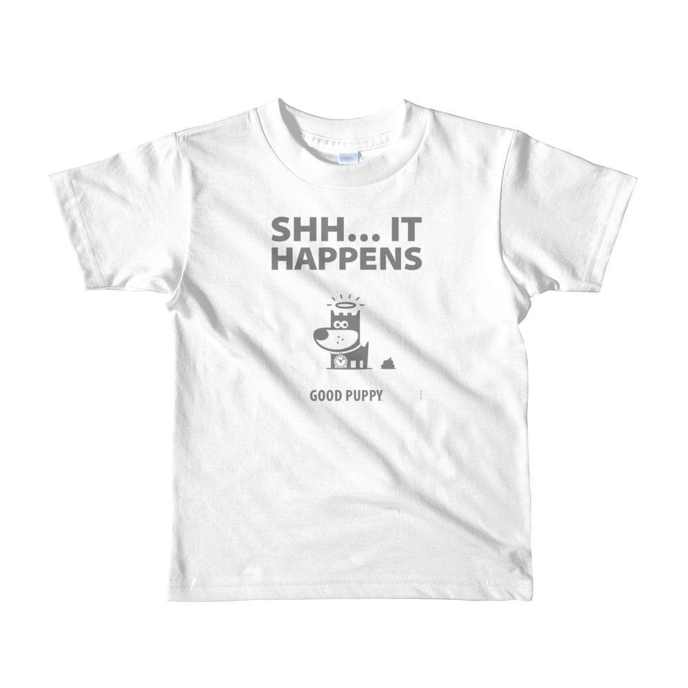 GOOD PUPPY Vintage . SHH . Kids' Jersey T-Shirt . Gray
