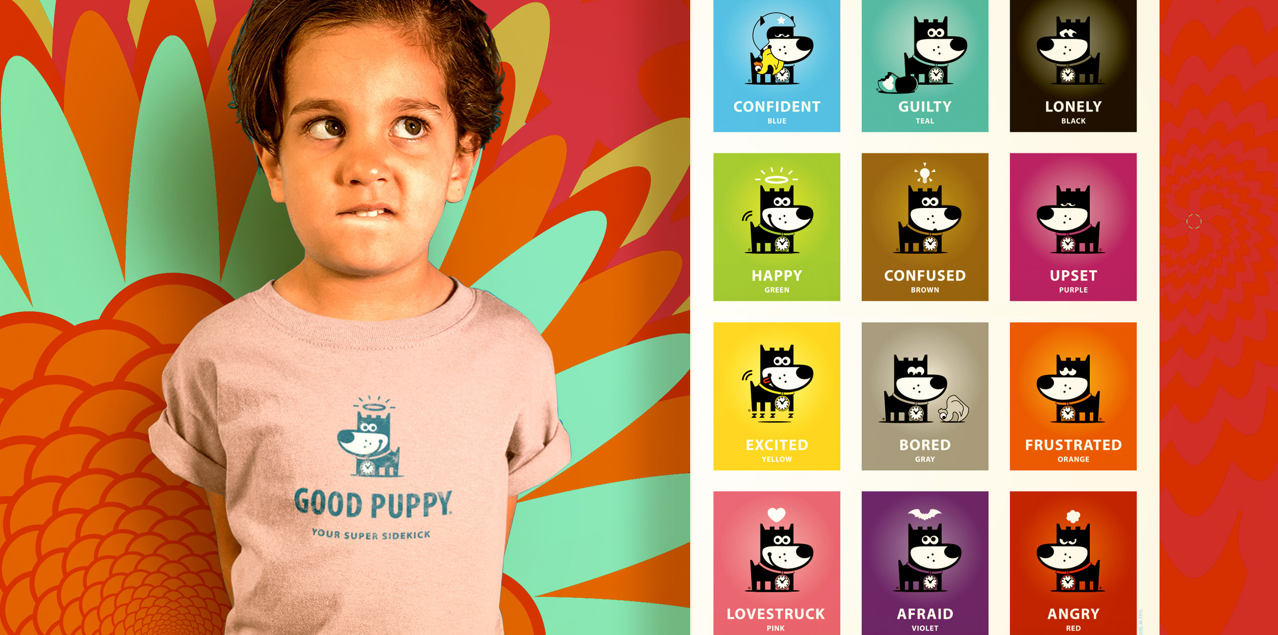GOOD PUPPY Emotions Color Wall Chart
