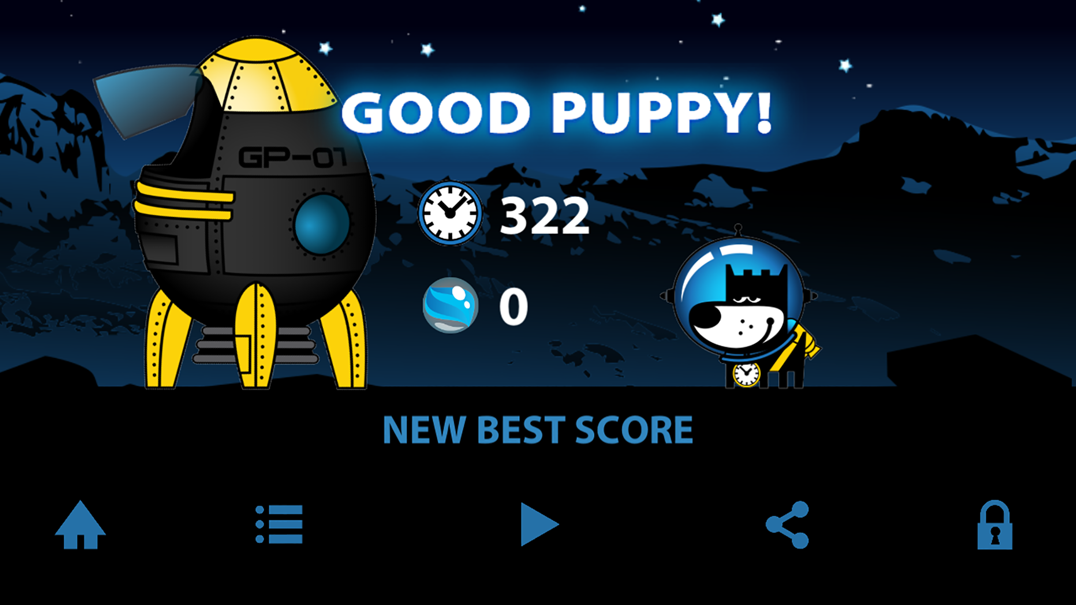 GOOD PUPPY SPACE WALK - Space Puppy - Infinite Runner - Fast Simple 80s Retro Arcade Game