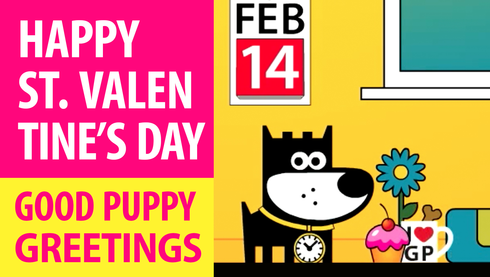 Happy St. Valentine's Day! Animated Greeting Cards - Free E-Cards By GOOD PUPPY