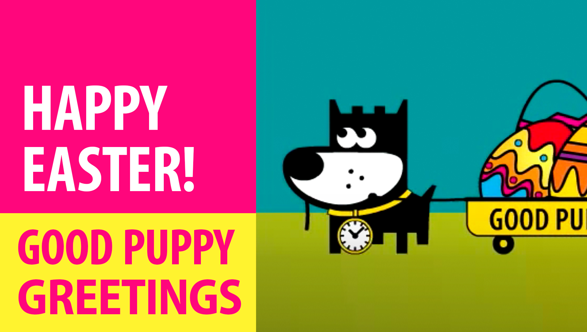 Happy Easter! Animated Greeting Cards - Free E-Cards By GOOD PUPPY