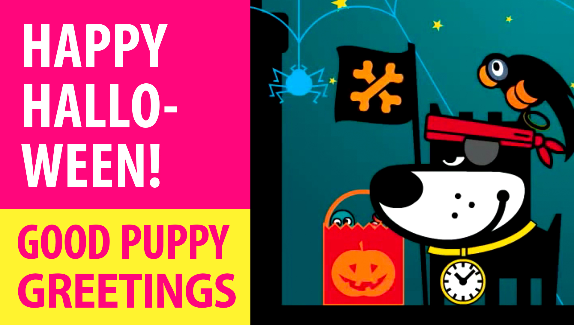 Happy Halloween! Animated Greeting Cards - Free E-Cards By GOOD PUPPY
