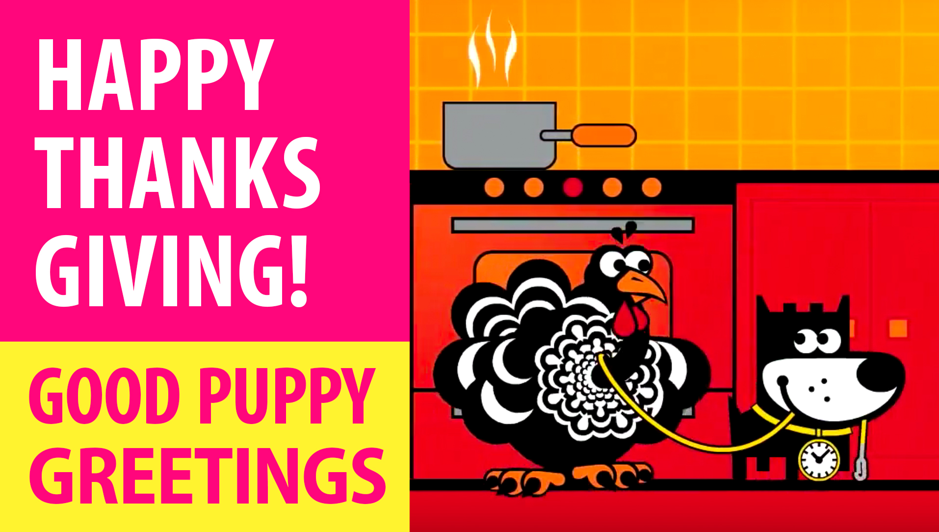Happy Thanksgiving Day! Animated Greeting Cards - Free E-Cards By GOOD PUPPY