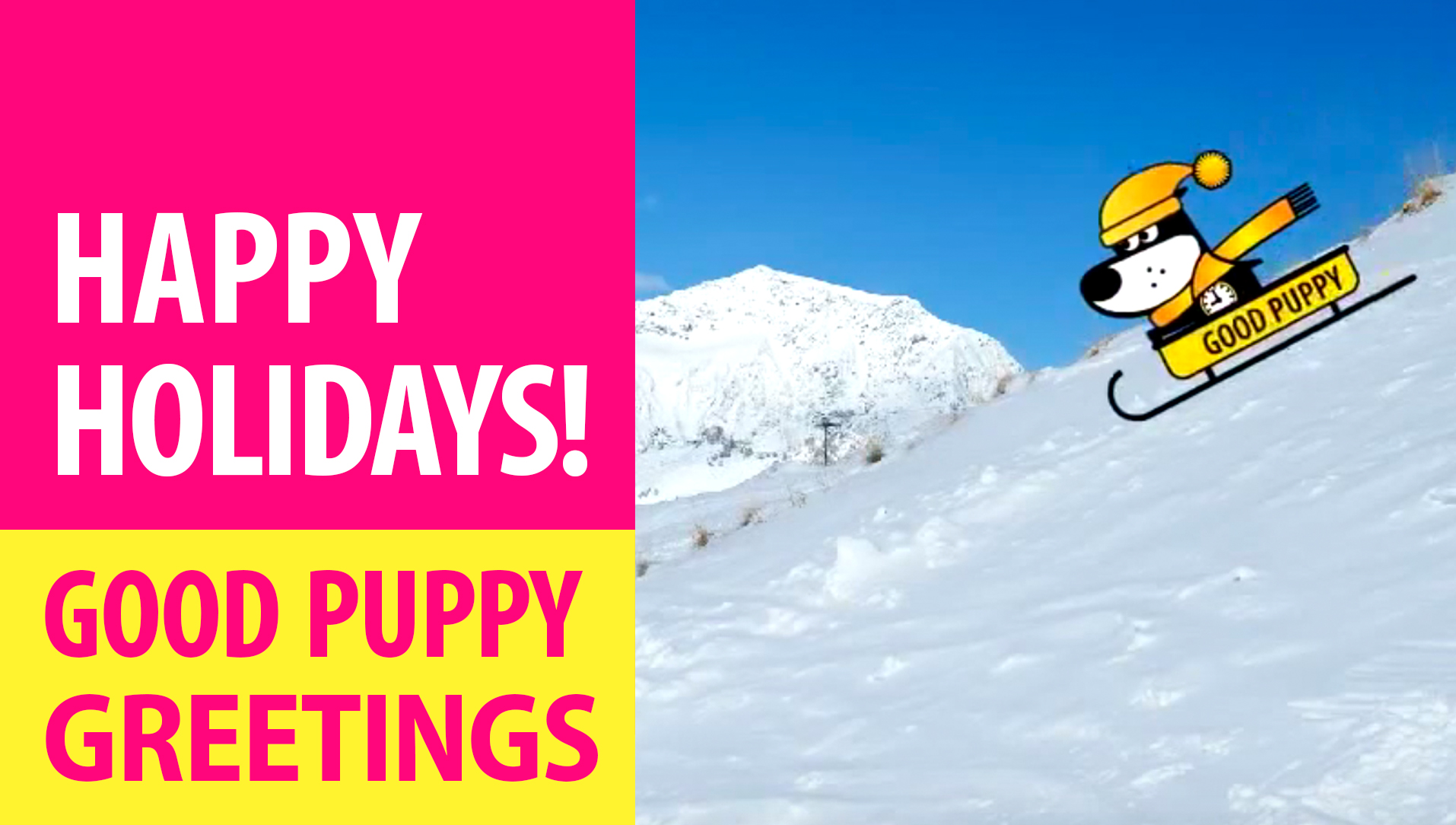 Happy Holidays! Animated Greeting Cards - Free E-Cards By GOOD PUPPY