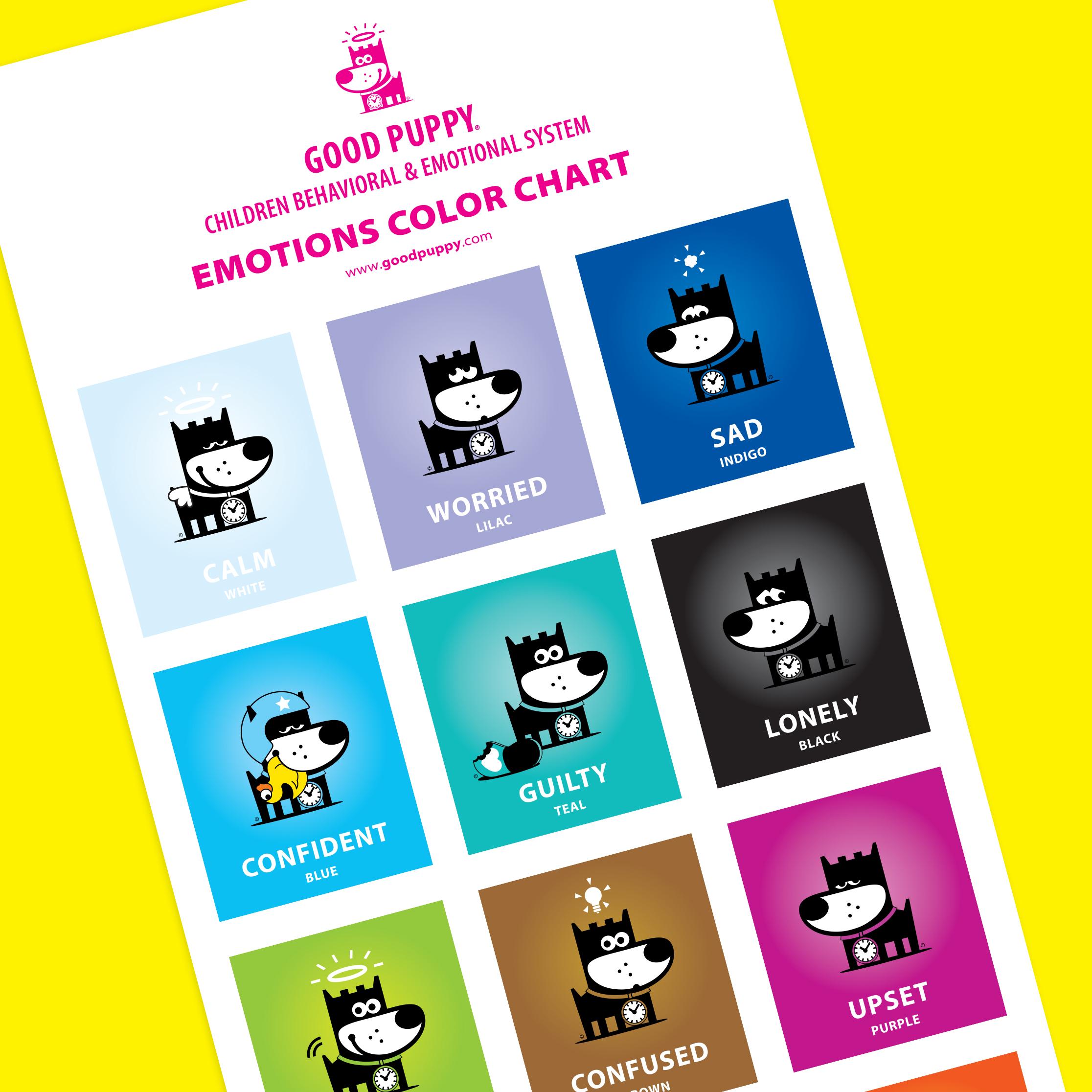 Emotions Color Chart For Children