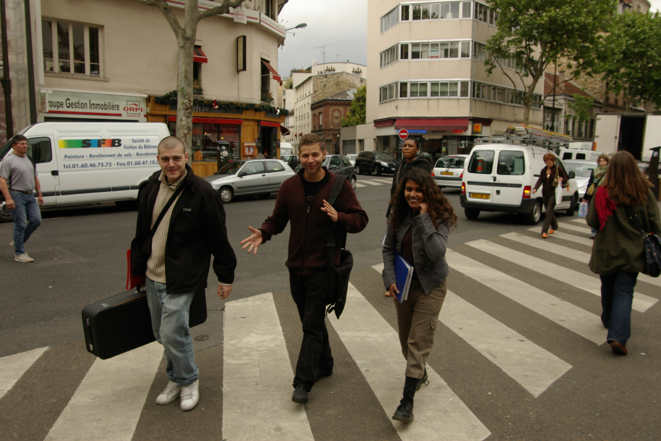 I was so fortunate to study Jazz for 4 years in Paris, amongst incredible musicians and teachers from all over the world. This was taken in Paris, 2006