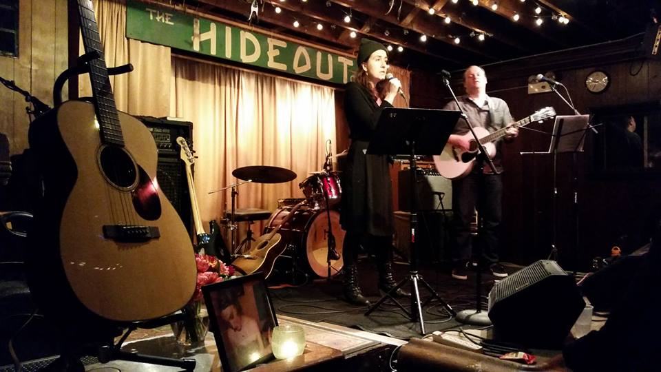 At a Memorial show for Stephanie Morris at The Hideout in Chicago, Nov. 2014