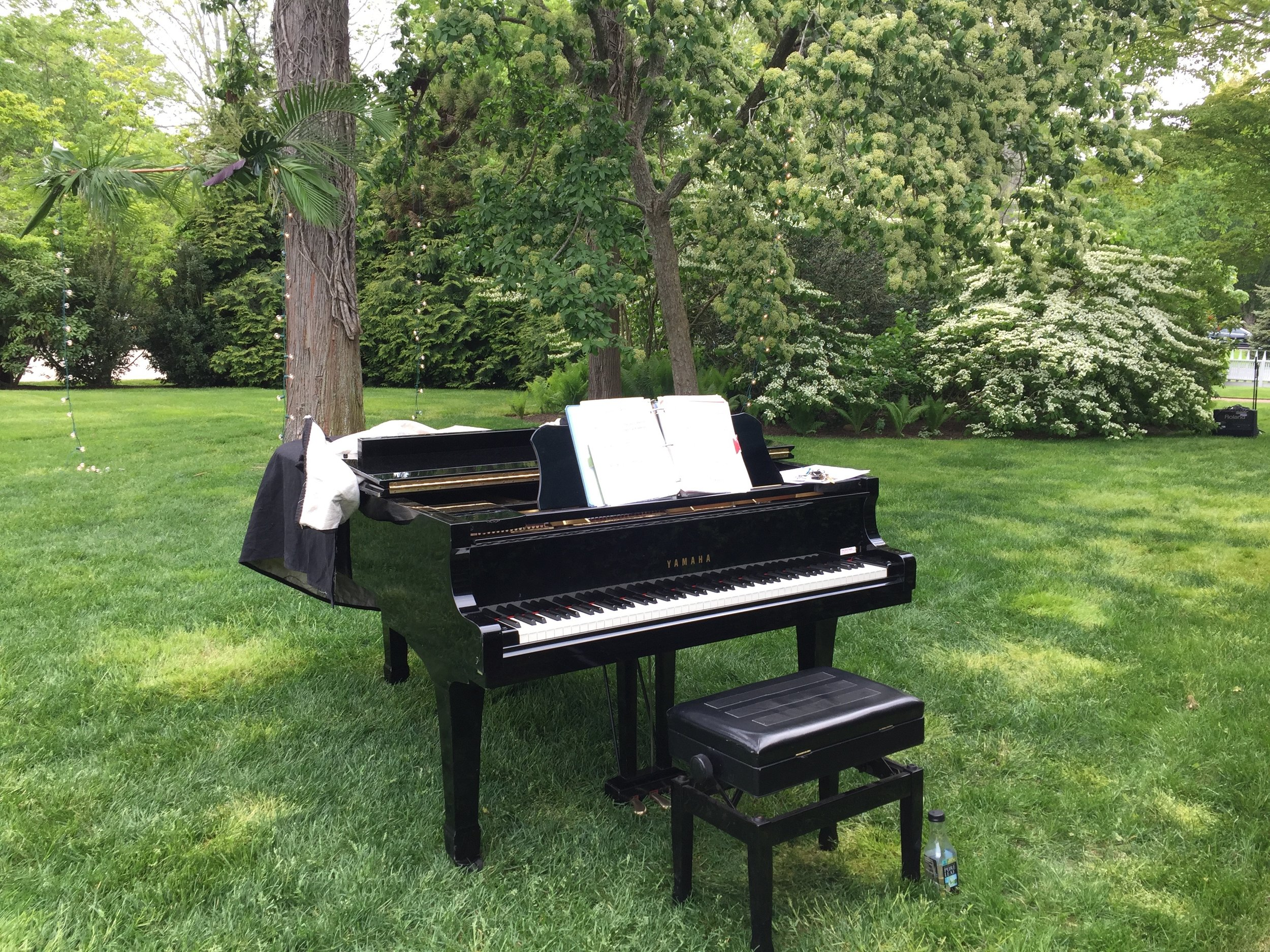 Piano from a Wedding on Long Island, NY, Summer 2017