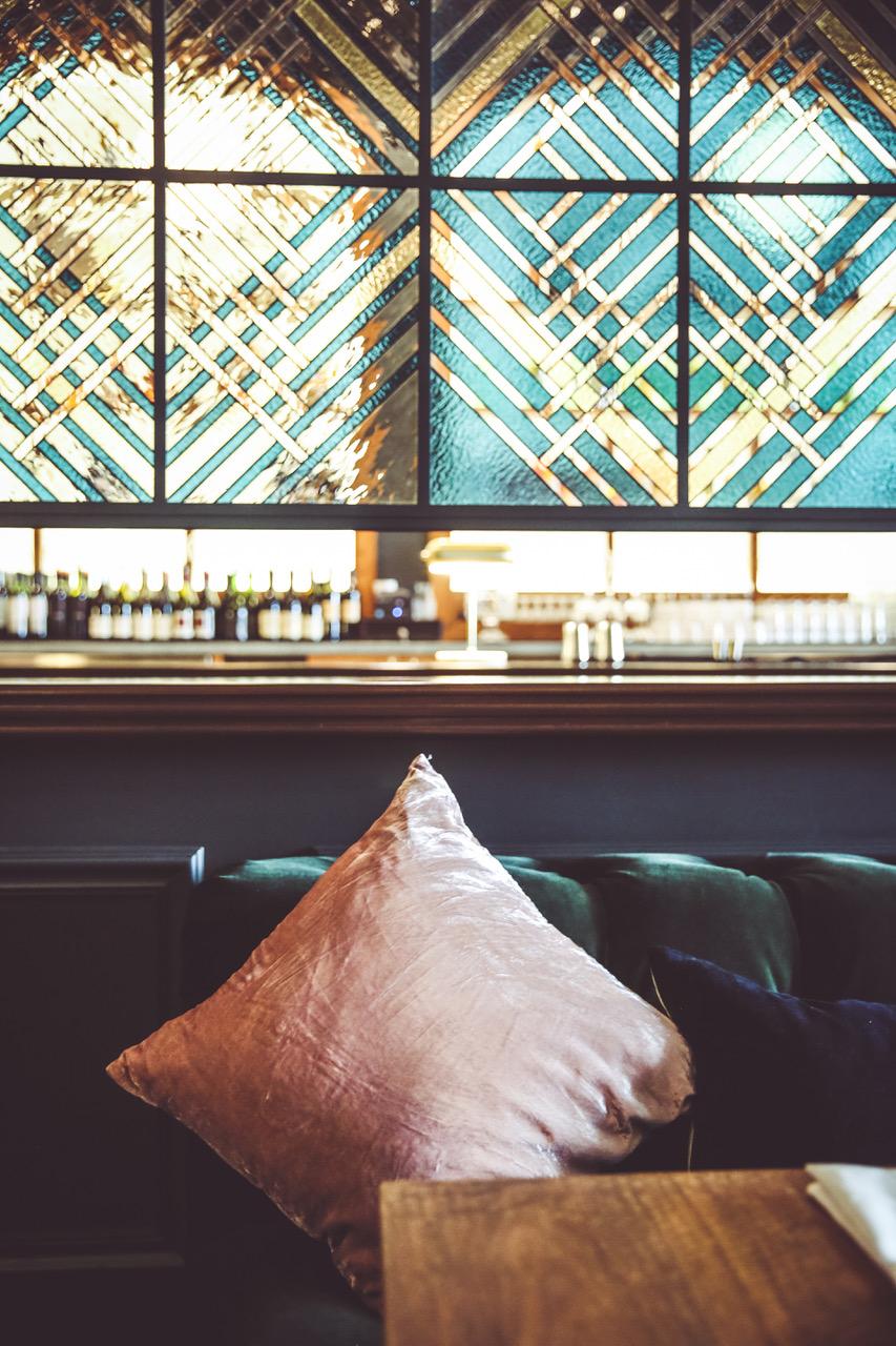 Bespoke Glass partition wall at  MASSILIA   photo credit:  Steven Lake
