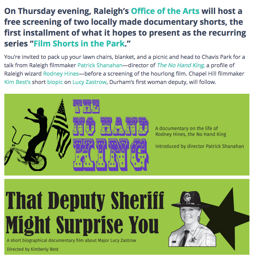 """That Deputy Sheriff Might Surprise You""   September 8, 2016"