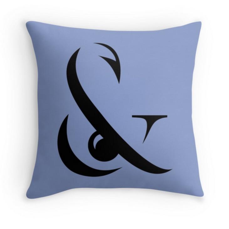 Hook & Eye Thrown Pillow in Duskiwinkle
