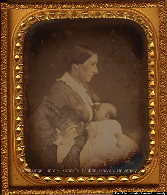 Victorian daguerreotype of a breastfeeding mother;  Schlessinger Library, Radcliffe Institute, Harvard University