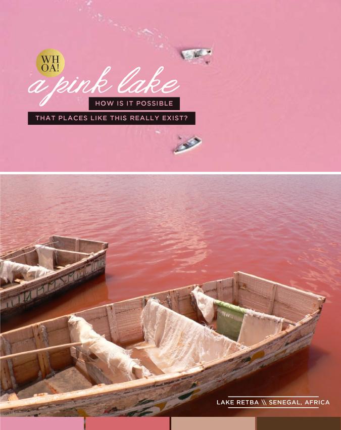 pink lake - lake retba - via stacey day