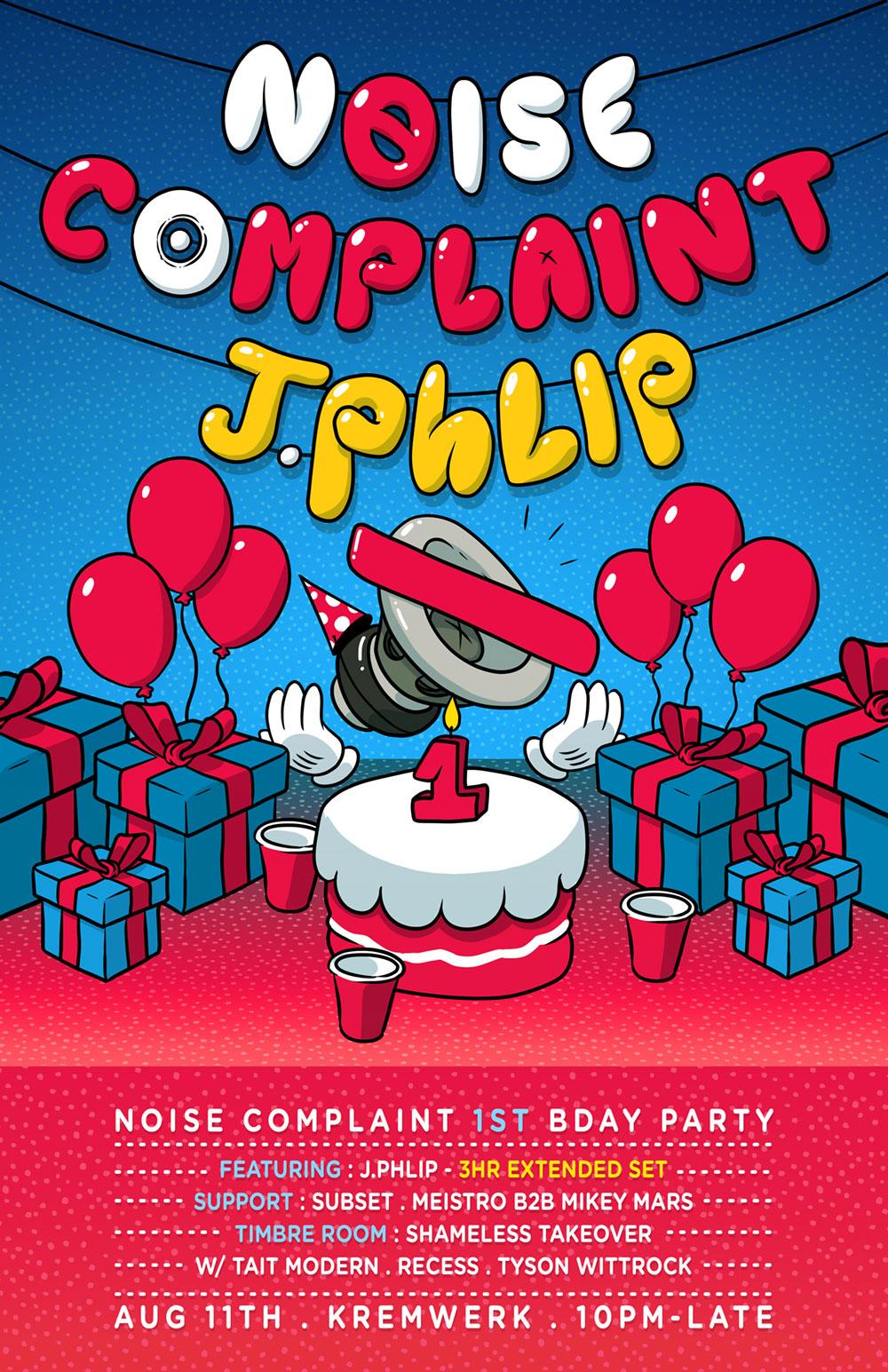 Noise Complaint Bday Flyer