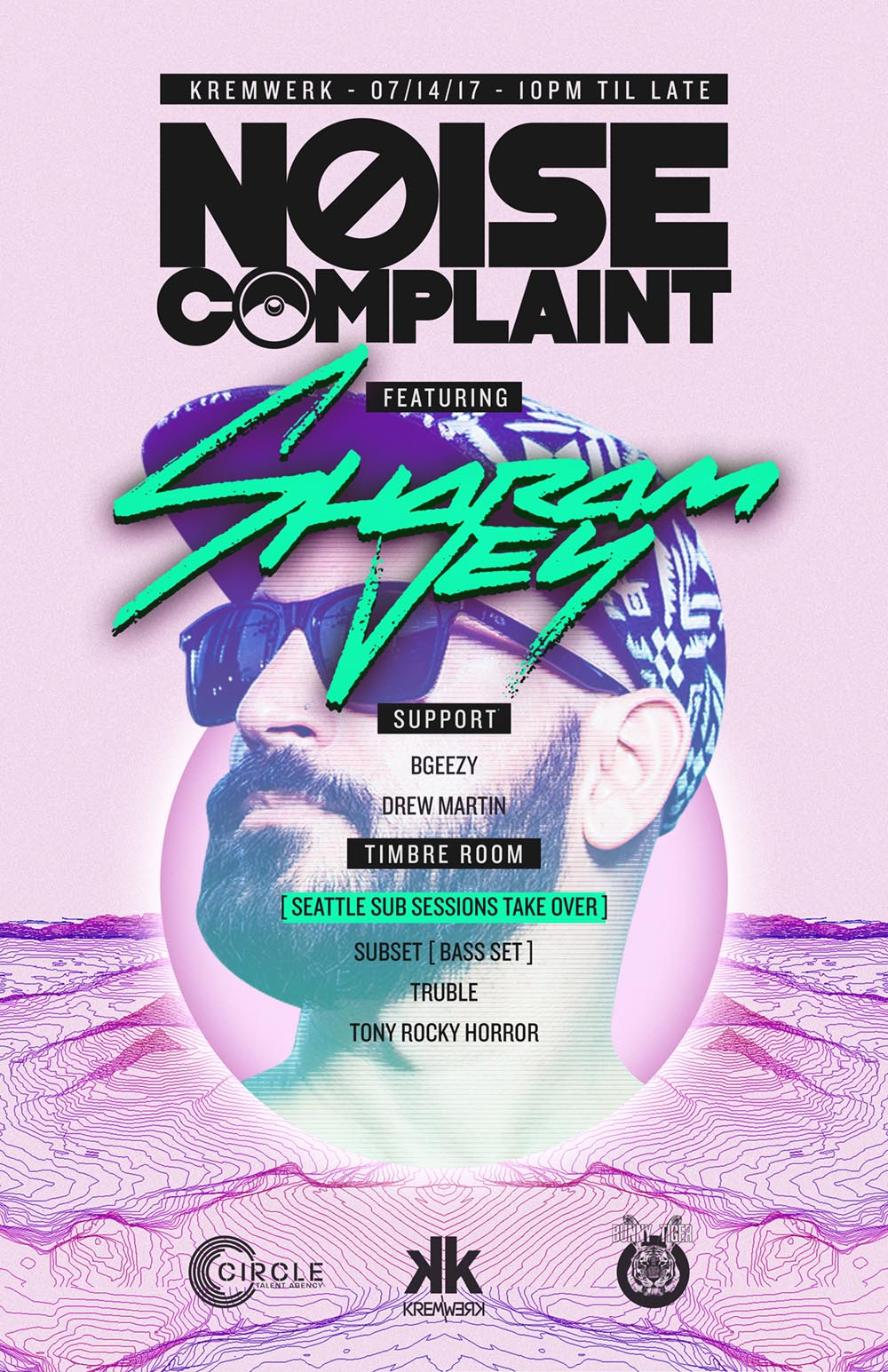 NOISE+COMPLAINT_SEATTLE_SHARAM+JEY_POSTER_WEIJERRYCHEN_HOUSE_TECHNO.jpg