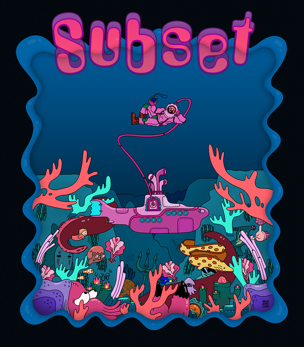Shirt / Poster for Subset's Holyship 2017 tour