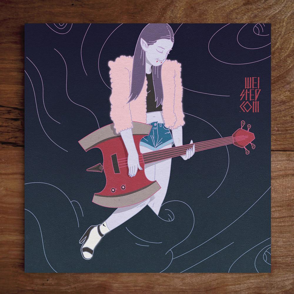 Model No.41: @nivhrdz Bass Queen Marceline