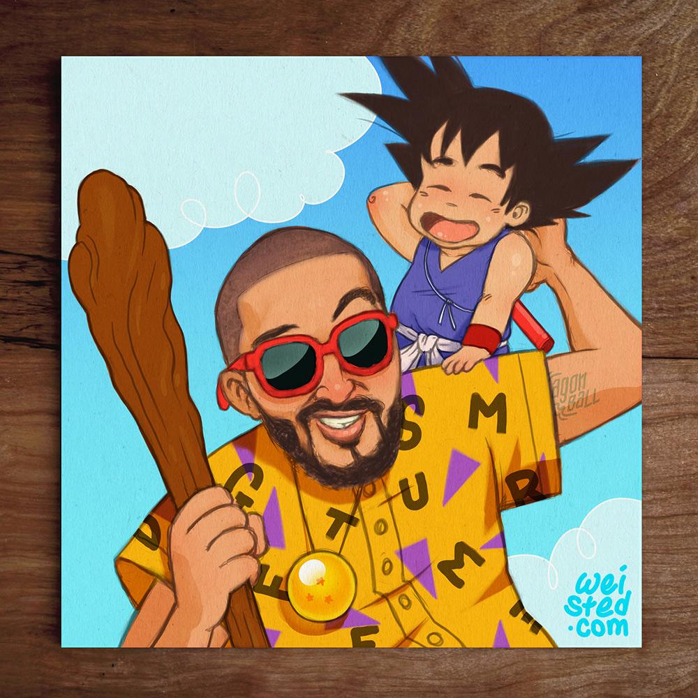 Model No.22 @DirtyBoogie & His Son as Master Roshi & Yung Goku
