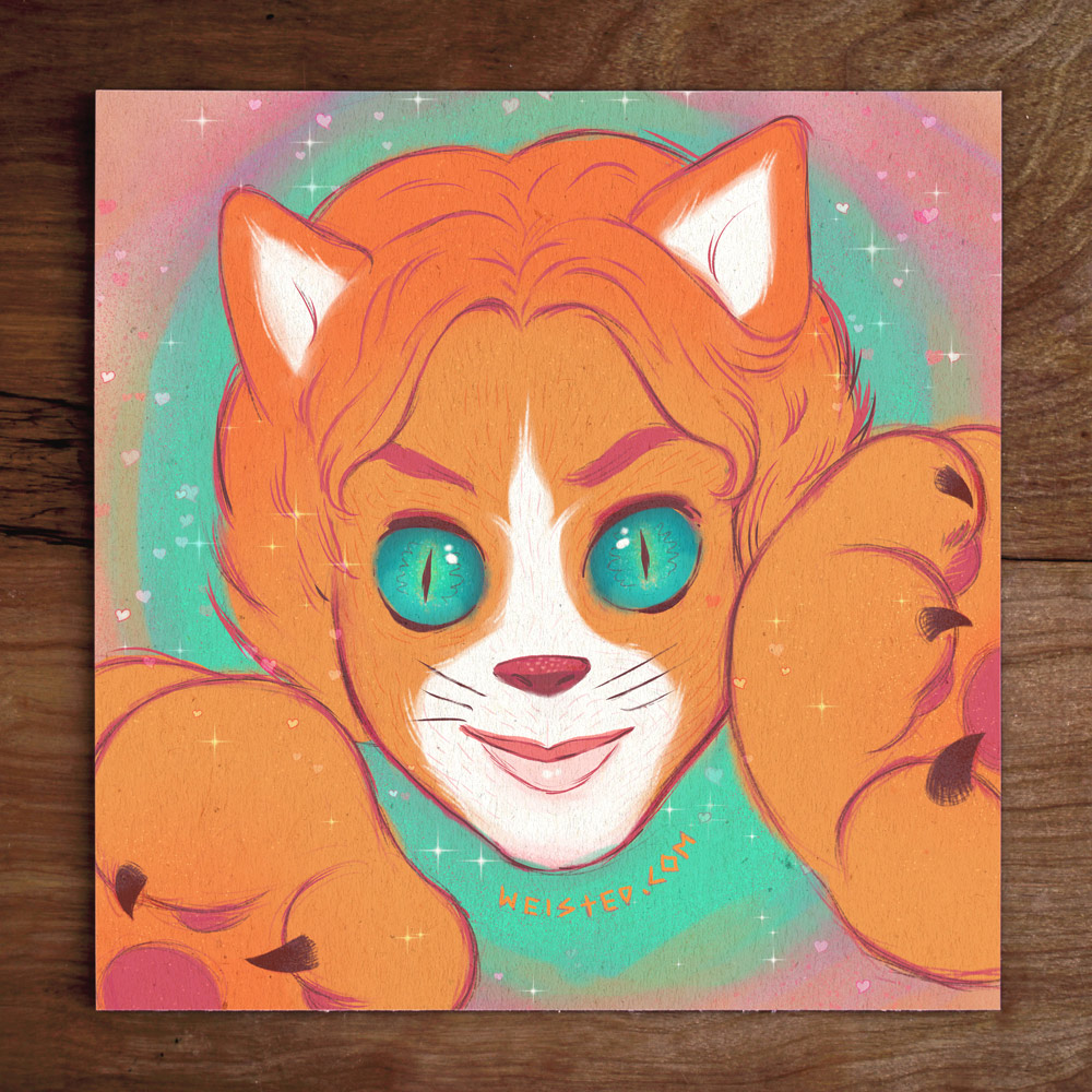 No. 6 Model: @Gardenistic the #LisaFrank Cat